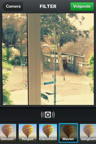 Filter kiezen instagram